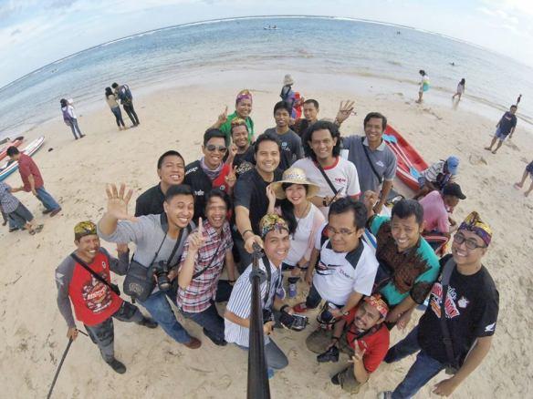 Bersama teman blogger di Bali
